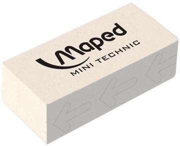 Maped gum Technic 300 verpakt onder cellofaan, in een doos