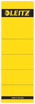Leitz rugetiketten ft 6,1 x 19,1 cm, geel