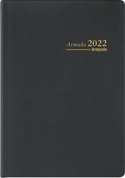 Brepols agenda Armada Seta 4-talig, zwart, 2022