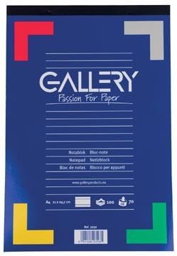 Gallery schrijfblok, ft A4, gelijnd, blok van 100 vel