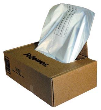 Fellowes opvangzakken van 121 - 143 liter voor papiervernietigers, pak van 50 zakken