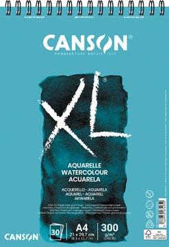 Canson schetsblok XL aquarelle 300g/m² ft A4, 30 vel