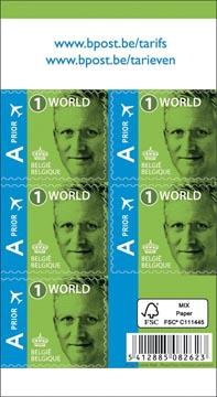 BPost postzegel internationaal, Koning Filip, blister van 50 stuks, prior