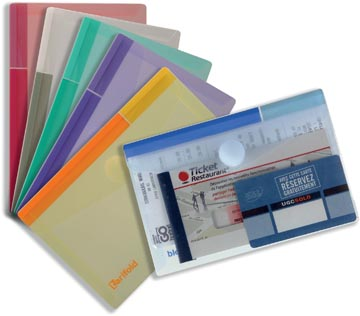 Tarifold documentenmap Collection Color voor ft A6 (165 x 109 mm), pak van 6 stuks
