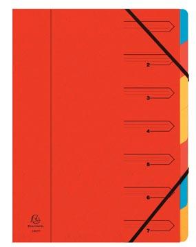 Exacompta Sorteermap 7-delig, rood