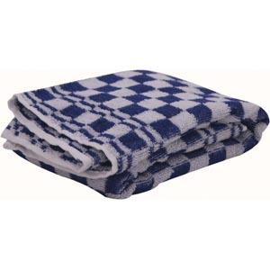 Handdoek uit badstof, ft 48 x 54 cm, blauw/wit