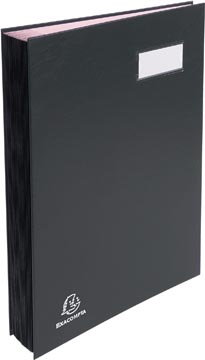 Exacompta handtekenmap voor ft 24 x 35 cm, uit karton overdekt met pvc, 20 indelingen, zwart