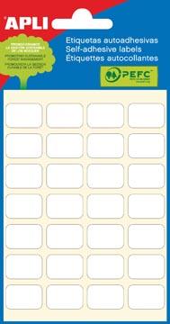 Apli witte etiketten ft 12 x 18 mm (b x h), 168 stuks, 28 per blad (2670)