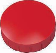Maul magneet MAULsolid, diameter 24 x 8 mm, rood, doos met 10 stuks