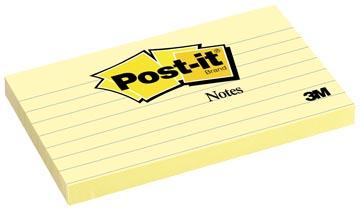 Post-it Notes, ft 76 x 127 mm, geel, gelijnd, blok van 100 vel