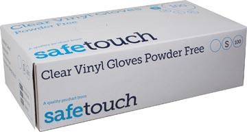 Handschoenen uit vinyl, small, wit/transparant, doos van 100 stuks