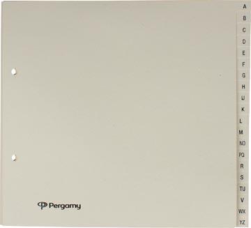Pergamy tabbladen ft 21 x 23 cm, 2-gaatsperforatie, gems, A-Z met 20 tabs