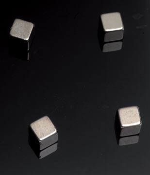 Naga magneet voor glasborden, ft 10 x 10 x 10 mm, 4 stuks