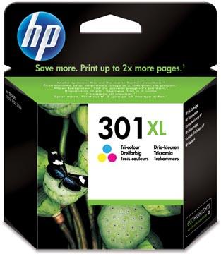 HP inktcartridge 301XL, 330 pagina's, OEM CH564EE, 3 kleuren