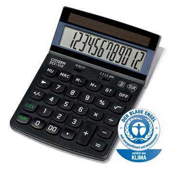 Citizen bureaurekenmachine Eco ECC-310, zwart