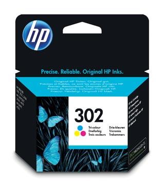 HP inktcartridge 302, 165 pagina's, OEM F6U65AE, 3 kleuren