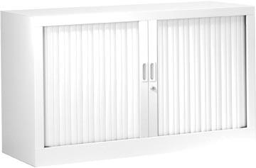 Roldeurkast, hoogte 69,5 cm, wit