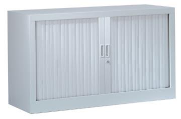 Roldeurkast, hoogte 69,5 cm, aluminium