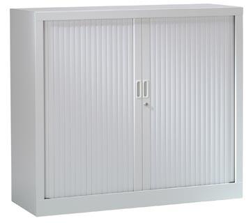 Roldeurkast, hoogte 100 cm, lichtgrijs