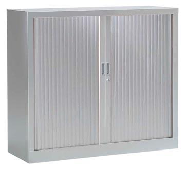 Roldeurkast, hoogte 100 cm, aluminium