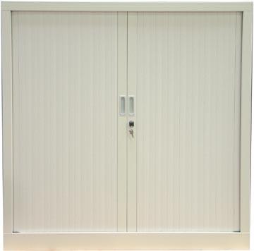 Roldeurkast, hoogte 136 cm, wit