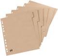 OXFORD Touareg tabbladen, formaat A4, uit karton, onbedrukt, 11-gaatsperforatie, 5 tabs
